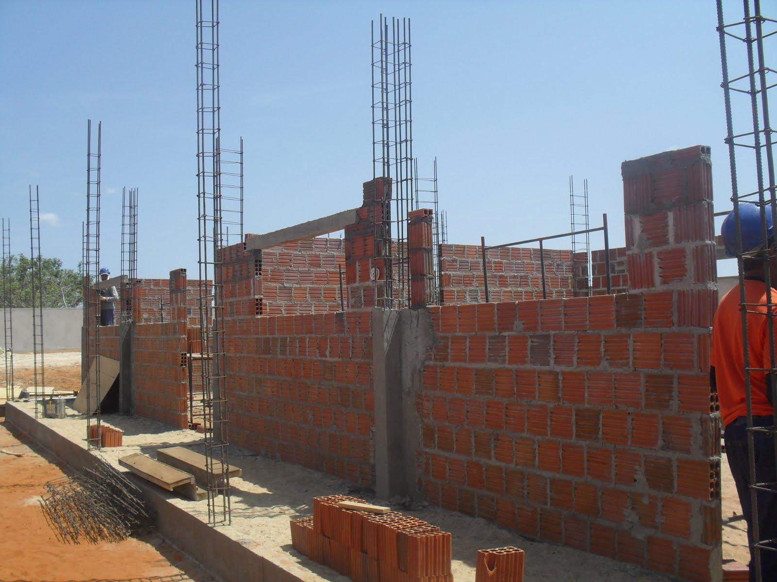 Hoje as obras estão em fase de Laje. #2F669C 1600 1200