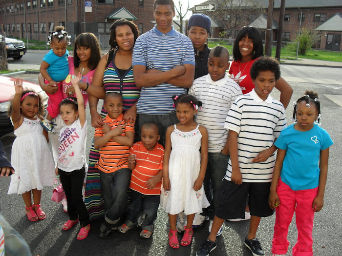 6 of my children and sister's children on easter sunday