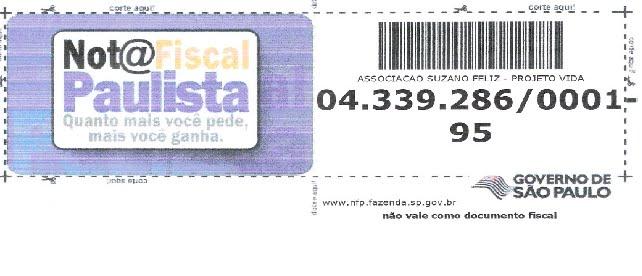 NOTA FISCAL PAULISTA - CNPJ 04.339.286/0001-95