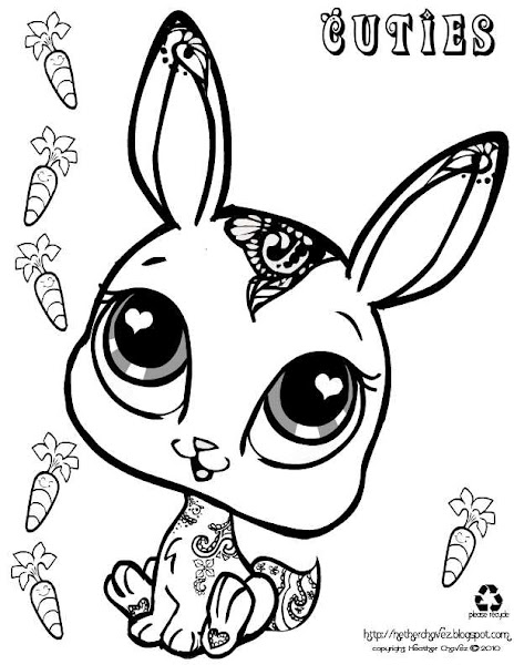 Littlest pet shop bunny coloring pages for Littlest pet shop coloring pages cuties