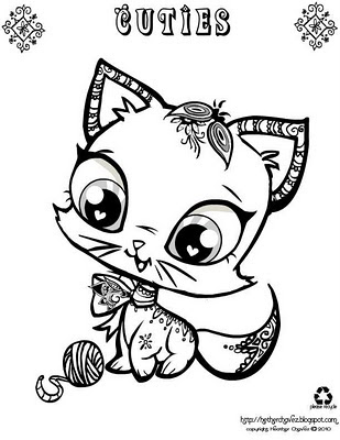 Cuties Printable Coloring Pages
