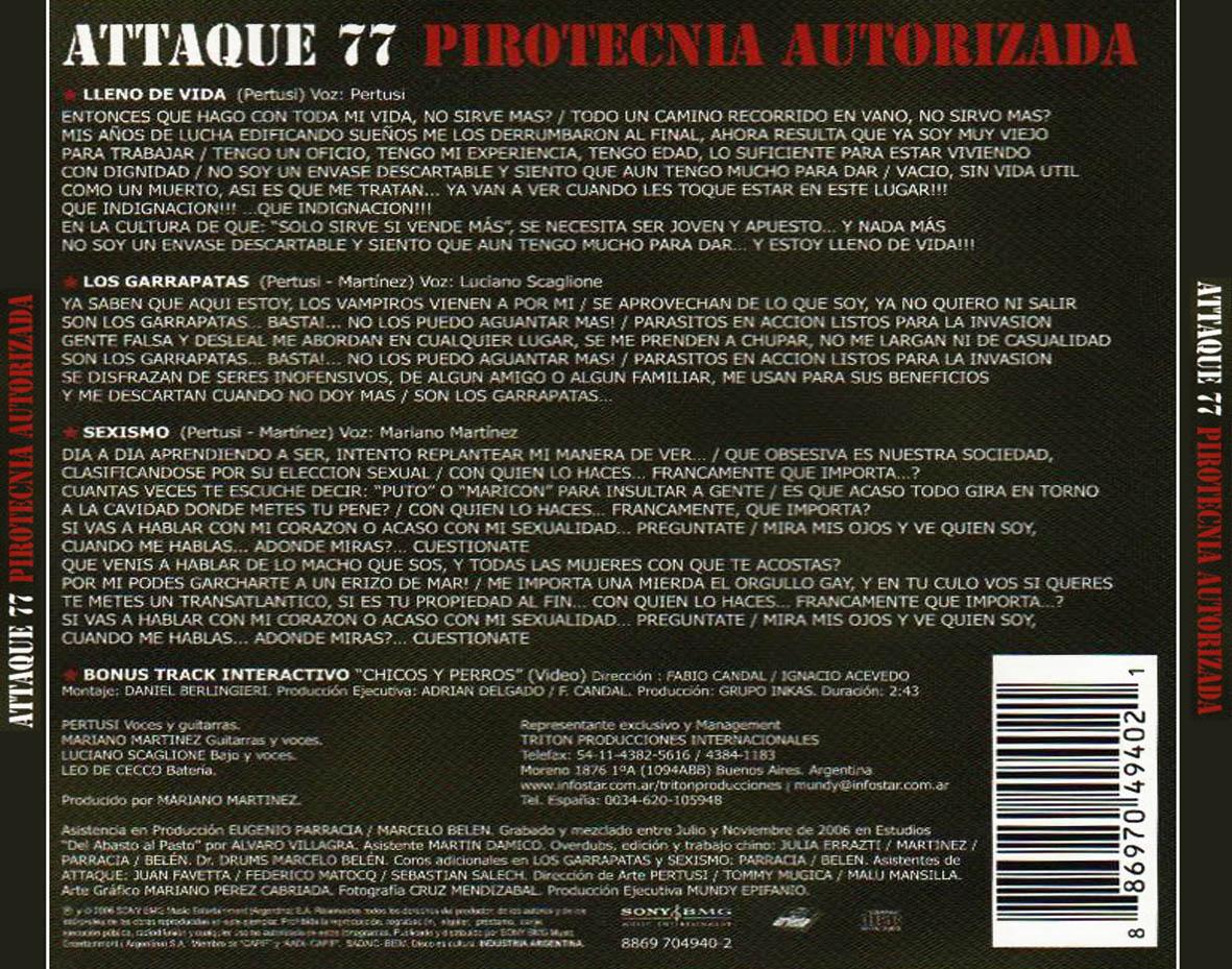 La colina de la vida attaque 77 descargar musica