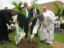 THE GAHARU TREE PLANTING BY ARCHBISHOP
