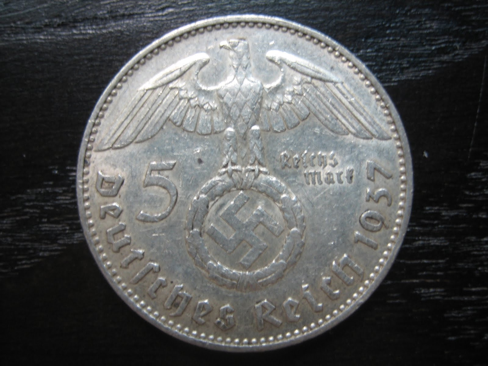 Numismatic Collection 1937 Third Reich Silver Reichmark