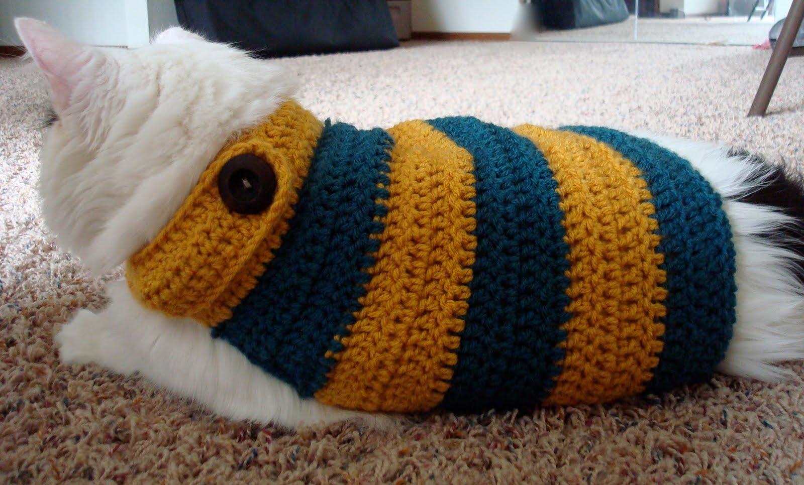 rabbit abby: huskaroo banded kitty sweater