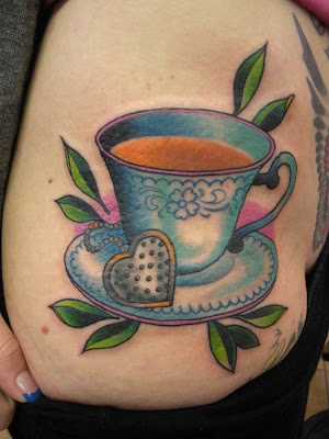 Tattoo/location: Tea cup. Right hip/upper thigh