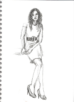 Fashion sketch by Liz Blair
