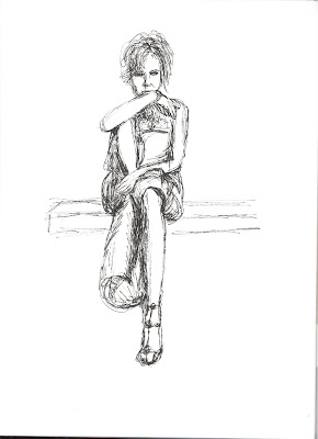 Liz Blair's sketch of Renee Zellweger