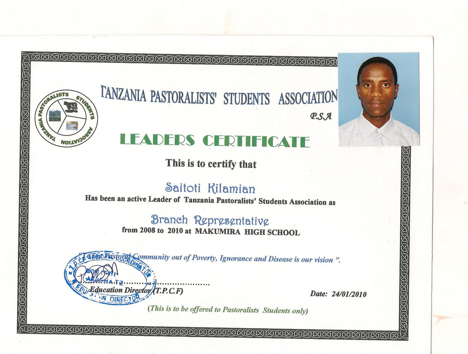 Professional tourguide school graduate 57 saitoti kilamian meeki secondary school leaving certificates 1betcityfo Image collections