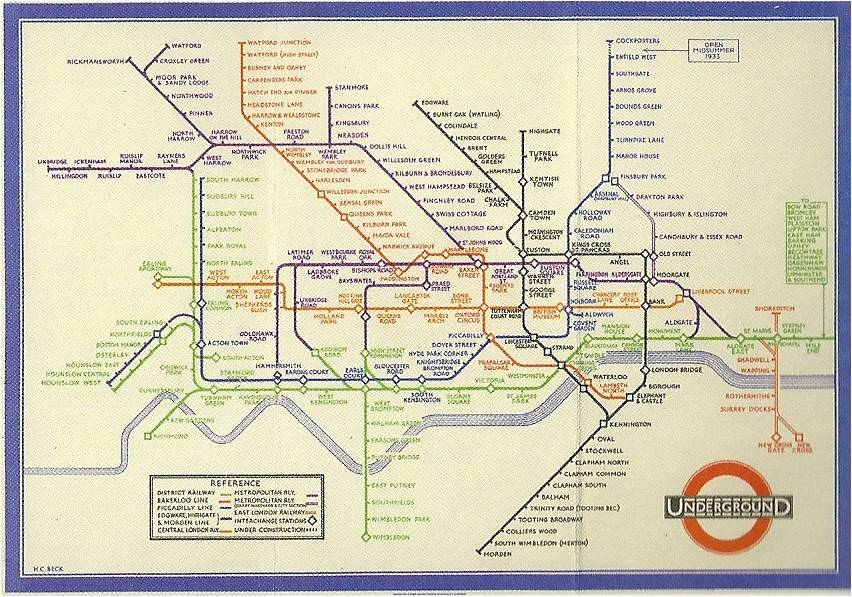 london underground map 1933. London Underground Map Harry
