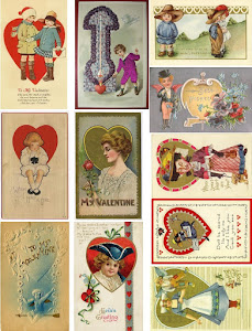 2011 Free Collage Sheet Valentine Postcards