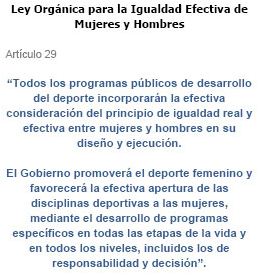Ley Orgnica para la Igualdad Efectiva de Mujeres y Hombres