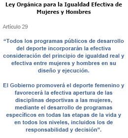 Ley Orgánica para la Igualdad Efectiva de Mujeres y Hombres