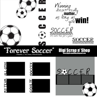 Digital Scrapbooking Freebie 'Forever Soccer'