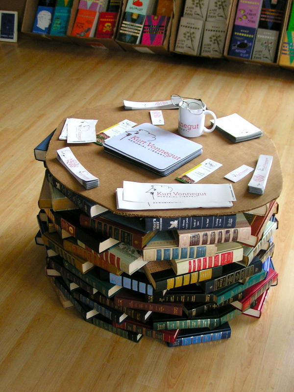 Buddhapuss Ink A Table Made Of Books
