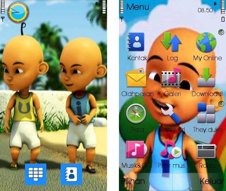 Coloring Pages Of Upin And Ipin