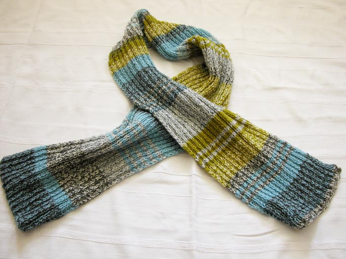 Knitting Patterns For Leftover Wool : happy to make: How to knit a scarf using leftover yarn