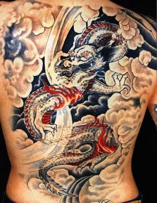 Татуировка дракон татуировки за гръб