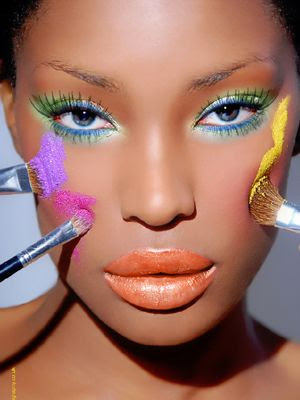 summer makeup ideas. Blue and green summer make up