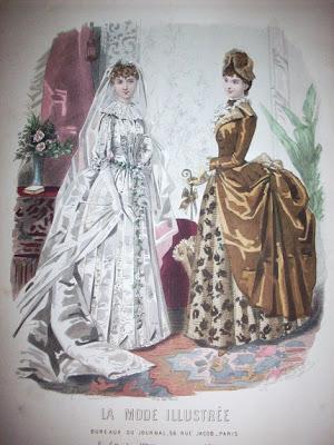 Pin Up Wedding Gown. 1885, Wedding Dress.