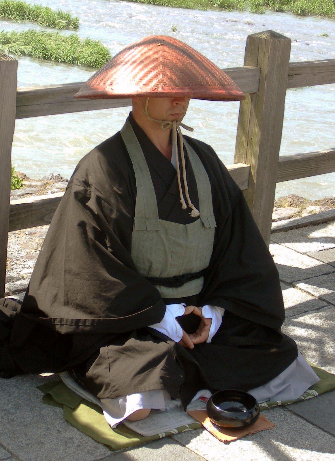 Zen Buddhist undergoing meditation.