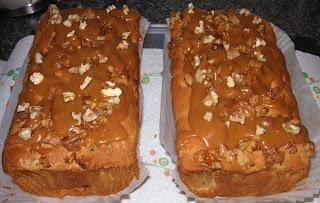 The Caked Crusader Caramel Apple Loaf Cake
