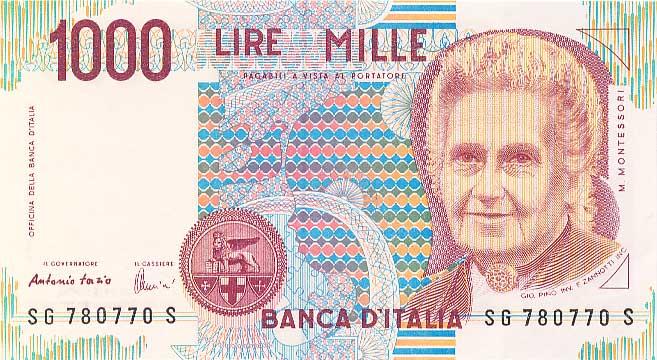Facciata della mille lire