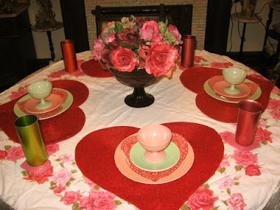 Thrifty Valentine 39 S Day Tablescapes And Other Decorating