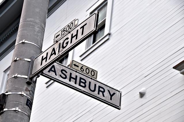 hyeit-eshberi, хейт-эшбери, сан-франциско, хиппи, столица хиппи, улицы, знаки