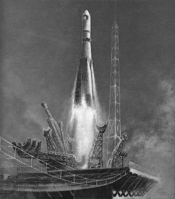 байконур, космодром, космонавт, космический полет, ракета, космос, ссср, восток, шестидесятые