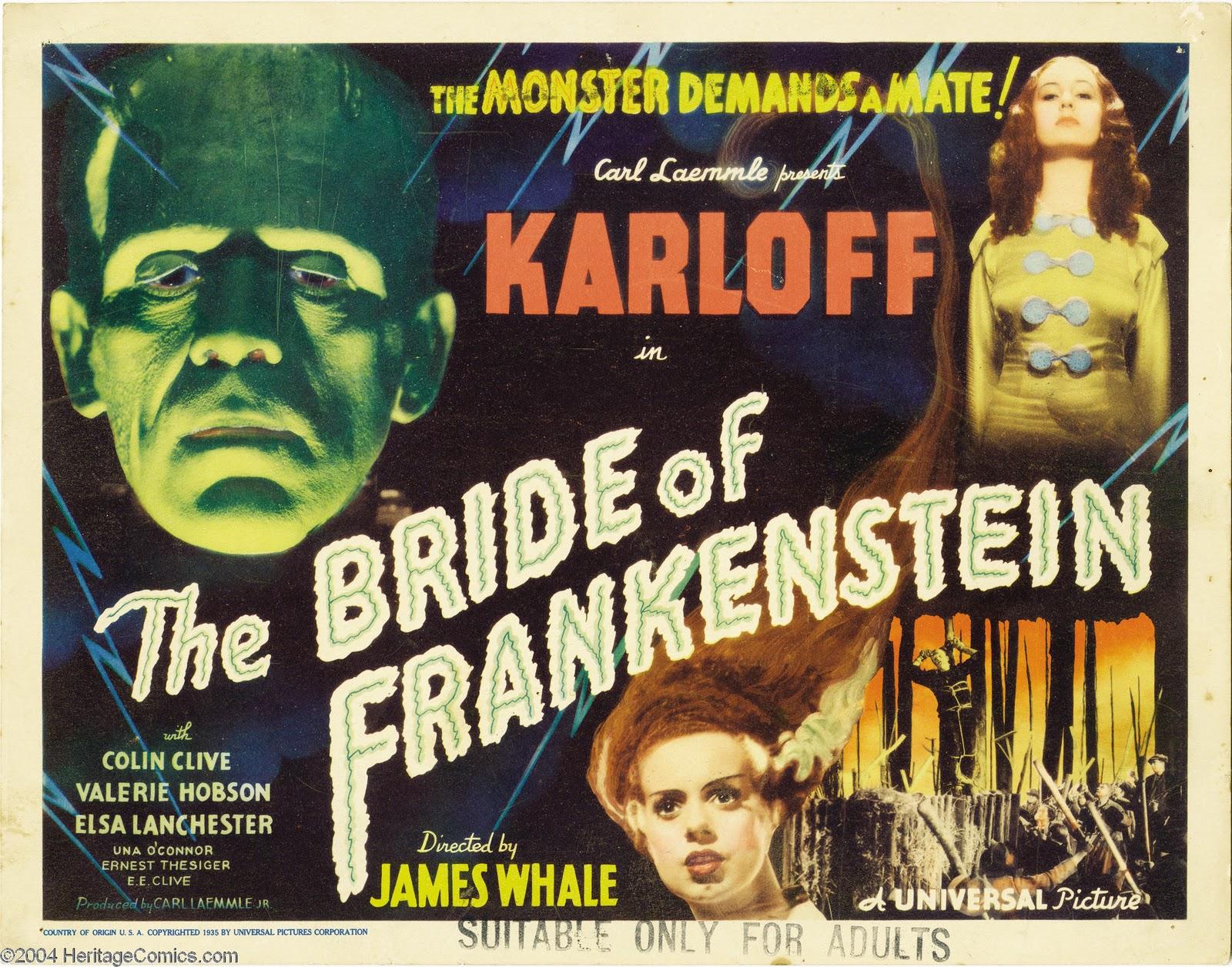 невеста франкенштейна, постер, фильм ужасов