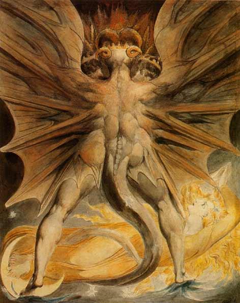 уильям блэйк, великий красный дракон, страшная картина, ужасы