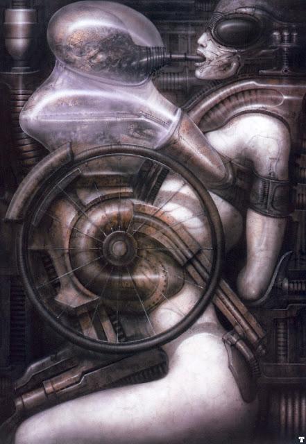 биомеханоид, гигер, ужасы в изобразительном искусстве