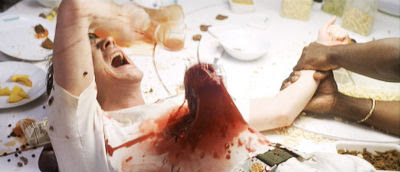 сцена убийства, кровь