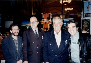 SANTIAGO MUTIS, JACQUES GILARD, ALVARO MUTIS Y EDUARDO GARCIA AGUILAR EN BIARRITZ