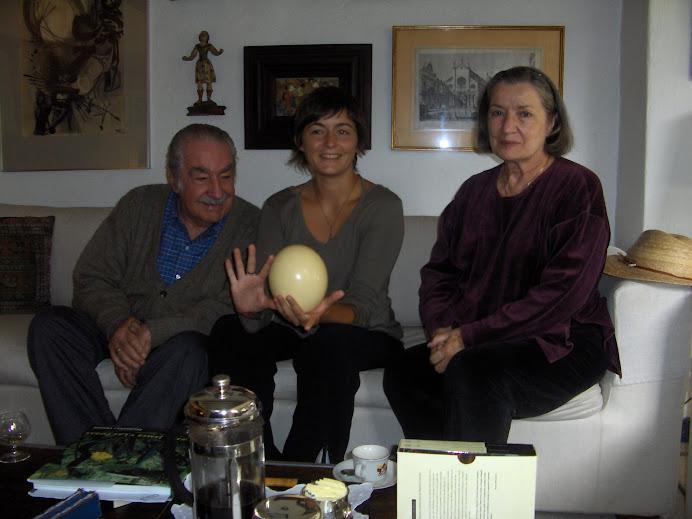 ALVARO MUTIS, CECILE LEMESLE Y CARMEN MUTIS