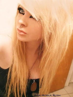 Gothic Long Blonde Hairstyle