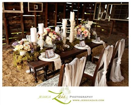 Wedding Decor Moss table runner