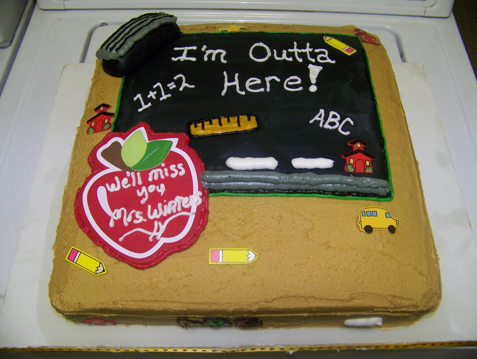 Retirement Cake Designs For Teachers : Rockin Cakes: May 2010