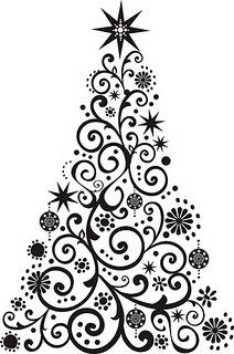 Adesivos de árvores de Natal