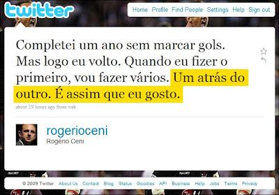 Rogerio Ceni do São Paulo