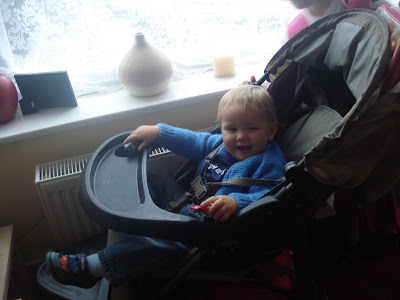 Baby Boy on Top Enders First Day of School in his Pram 2009