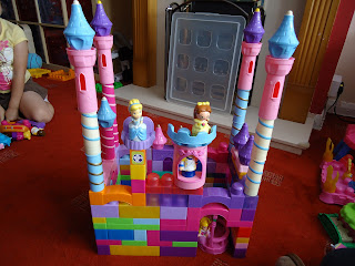 A Castle Made from Mega Bloks
