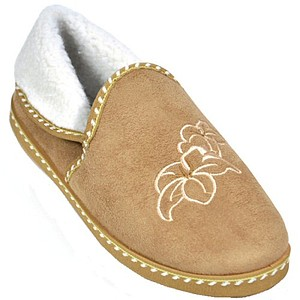 Clifford James Embroidered Slippers