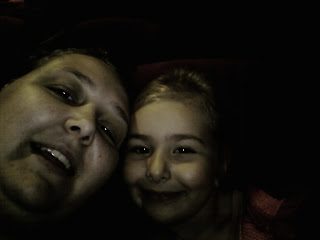 Top Ender and Mummy in the dark at the cinema