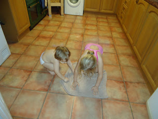 Cleaning the Kitchen Floor the Fun Way!