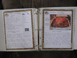 Thanksgiving Keepsake Recipe Sheets for Your Cookbook