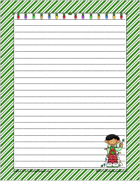 Writing paper christmas new calendar template site for Themed printer paper