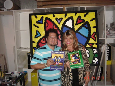 romero britto art. and Romero Britto. Miami, Fl