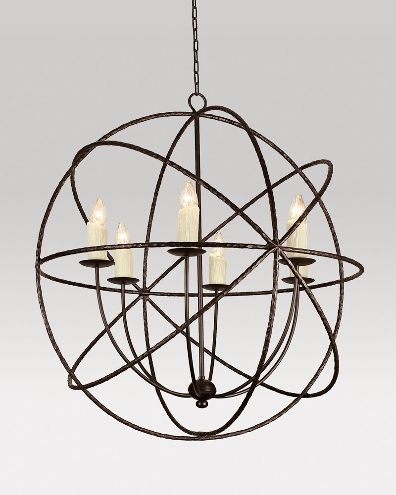 Maxim 7760KB Kentucky Bronze Tahoe Wrought Iron 6 Light Up